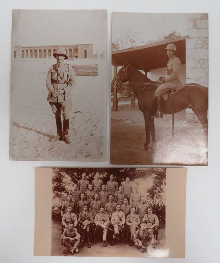 Set of 3 WW 1 Officer Photos