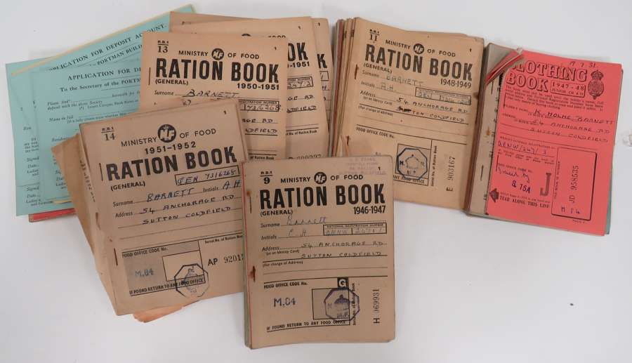 Quantity of Post War Ration Books