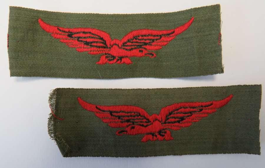 Pair of R.A.F Tropical Shoulder Eagles