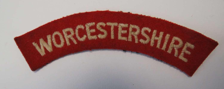 Worcestershire Regiment Title