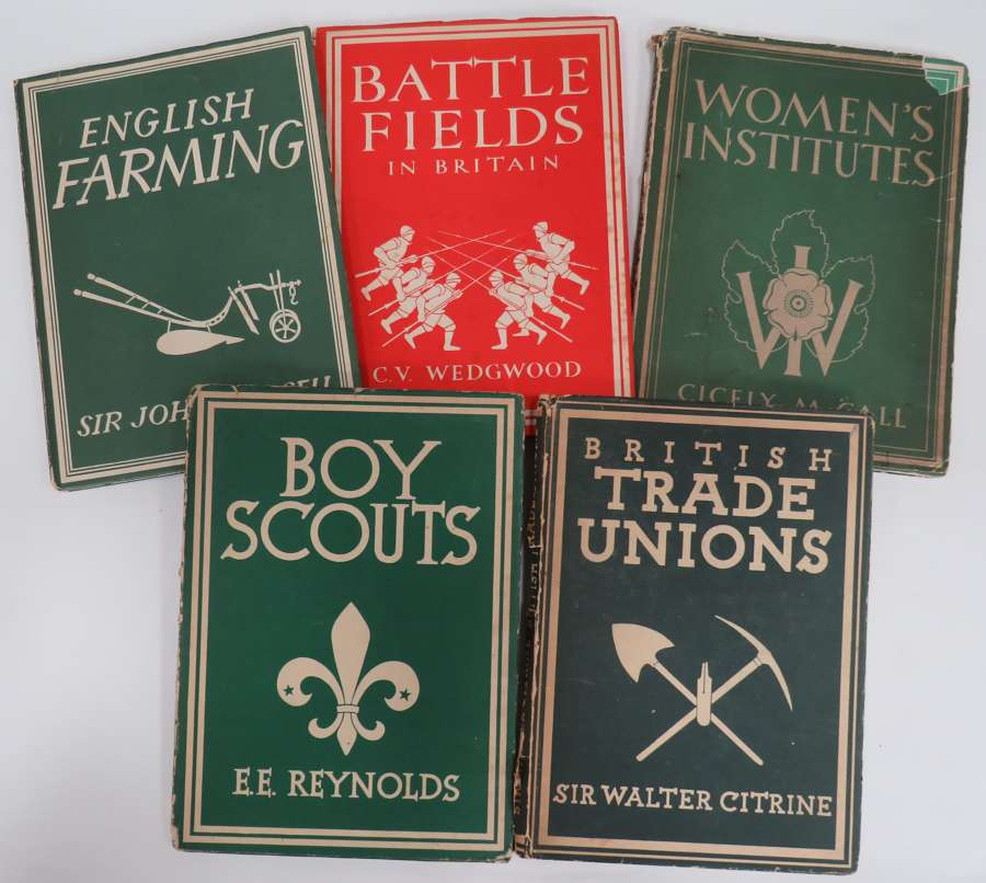Set of 5 Wartime Produced Books