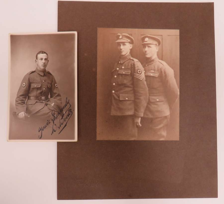 Two WW 1 R.A.M.C Photographs