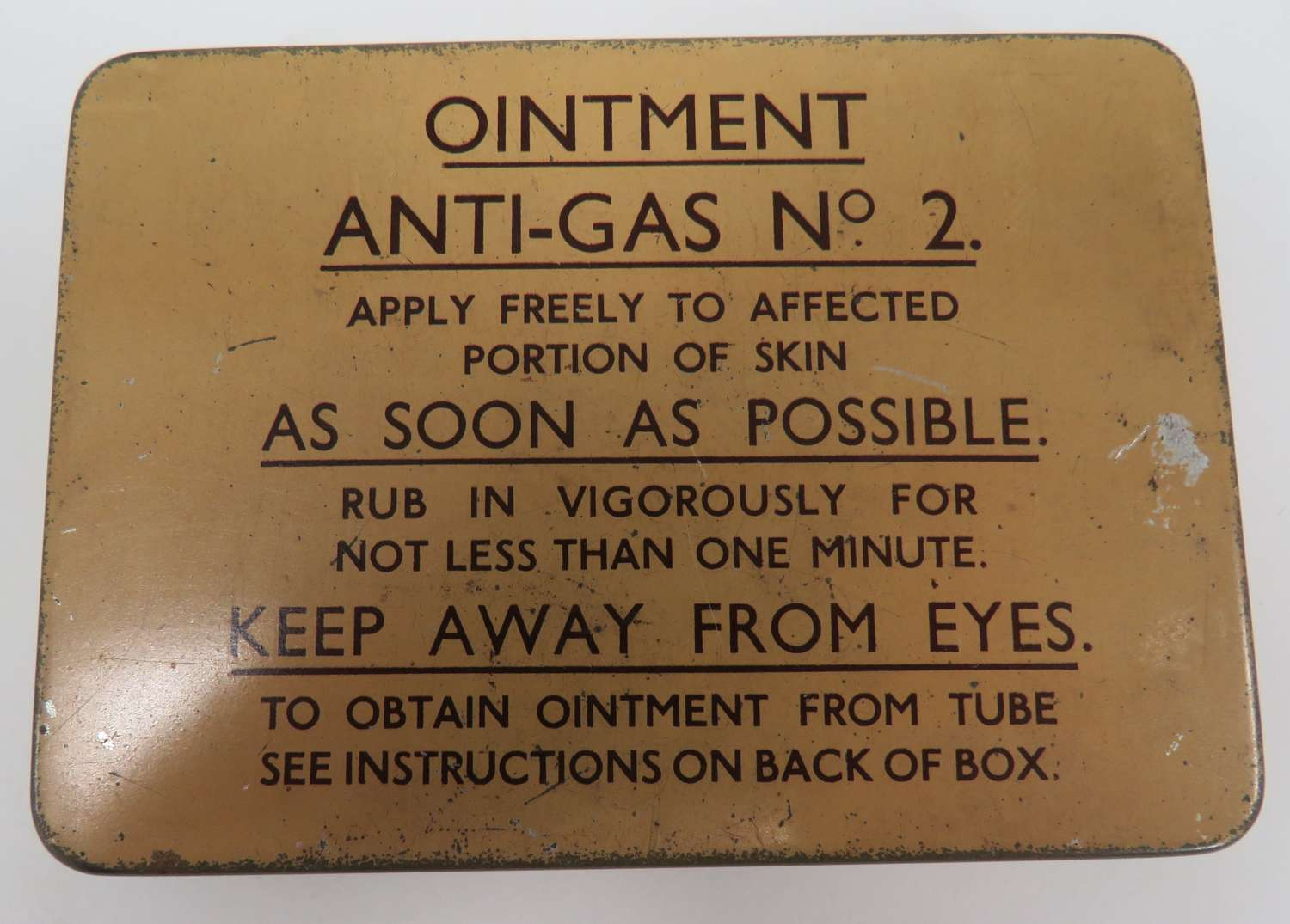 Anti Gas Ointment Tin and Contents
