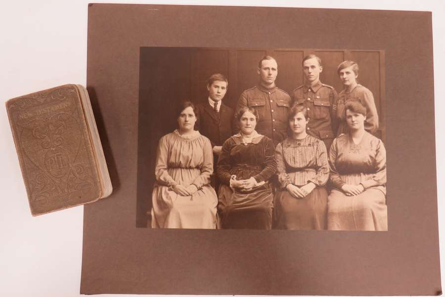 WW 1 Bible and Family Photo