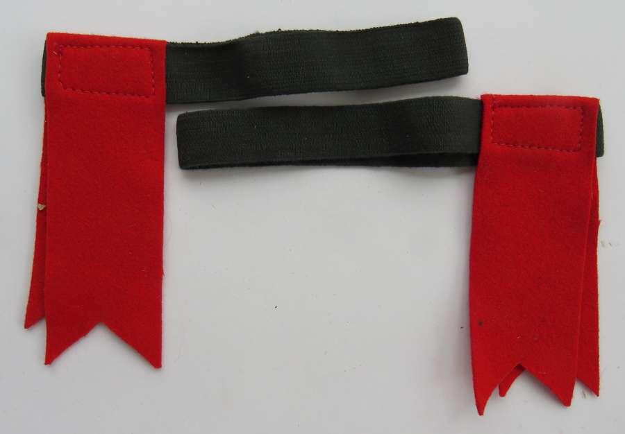 Scottish Regiment Sock Hose Top Ribbons