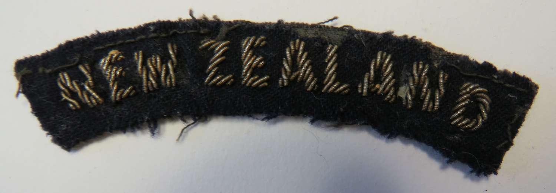 WW 2 Bullion Embroidery New Zealand Title