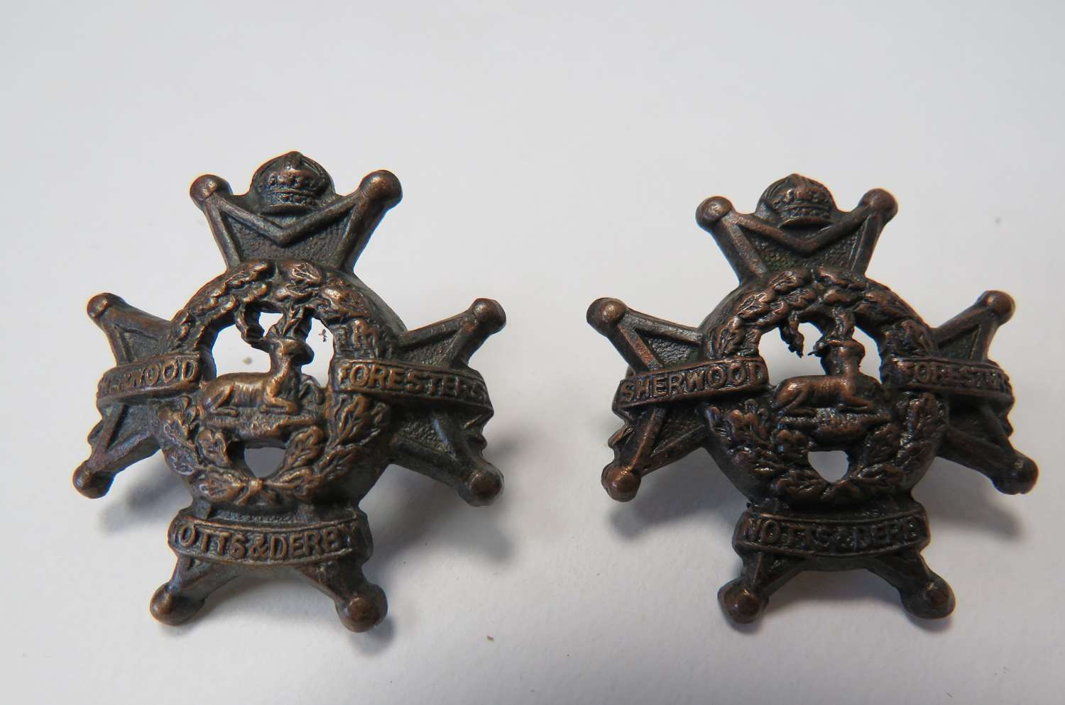 Notts and Derby Officer Collar Badges