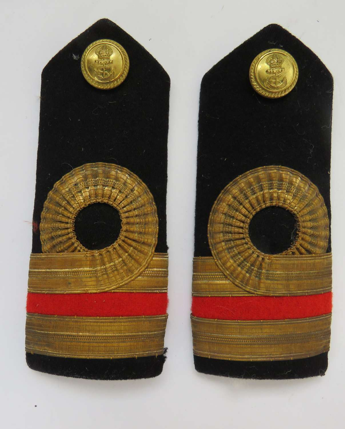Pair of Surgeon Naval Officers Shoulder Straps