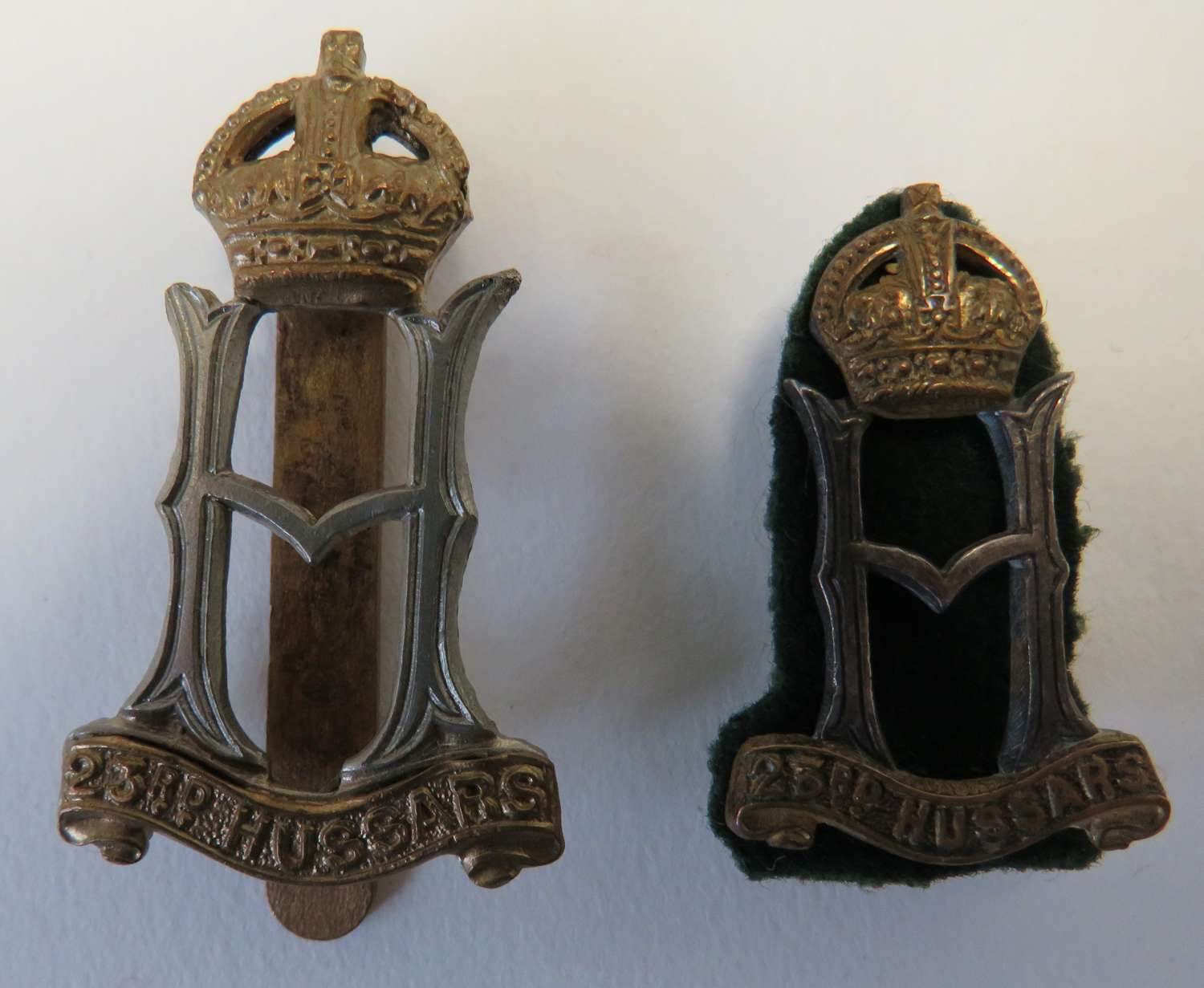 23rd Hussars Cap and Collar Badges