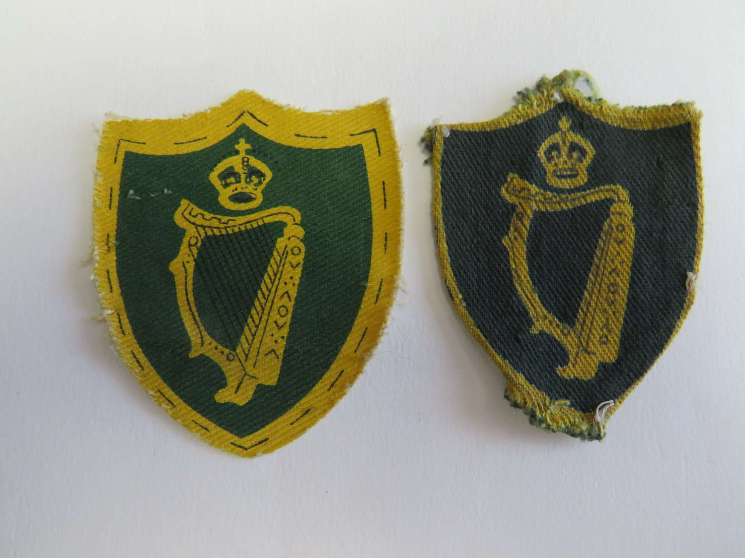 Two Northern Ireland District 3rd Pattern Formation Badges