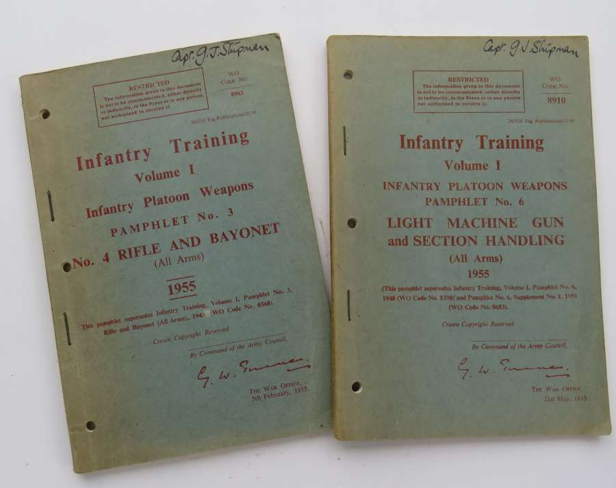 Two Post War Infantry Training Manuals