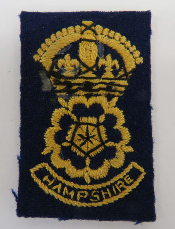 Hampshire Civil Defence Cap/Breast Badge