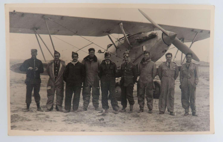 Pre WW 2 R.A,F 113 Squadron Post Card