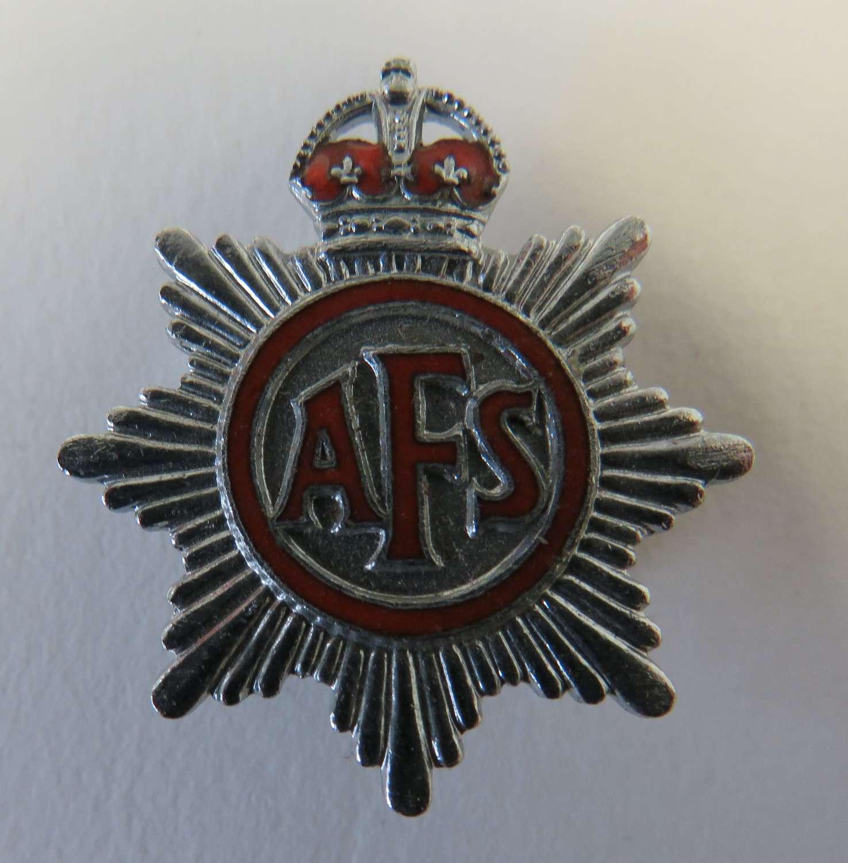 WW 2  A.F.S Lapel badge