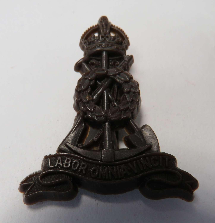 WW 2 Pioneer Corps Plastic Economy Cap Badge