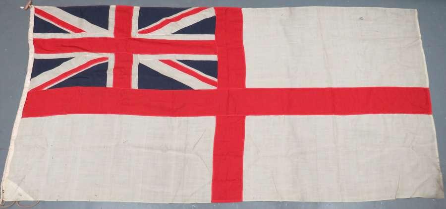 WW 2 Period Large Size Royal Navy White Ensign Flag