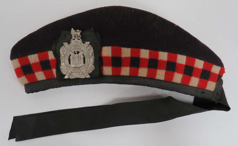 Kings Own Scottish Borderers Glengarry Hat