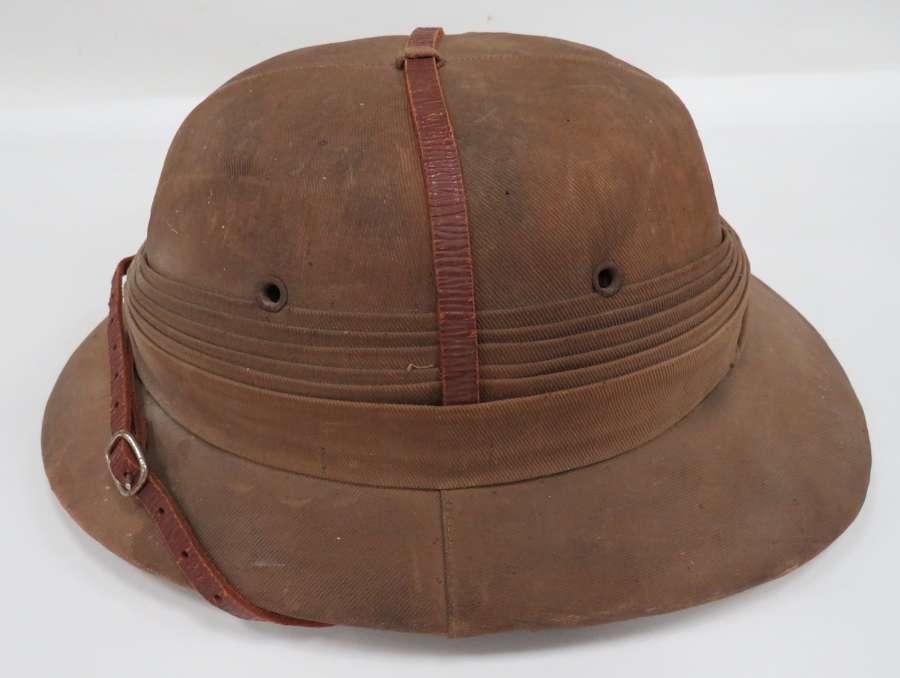 WW1 / WW2 Officers Polo Pattern Tropical Pith Helmet