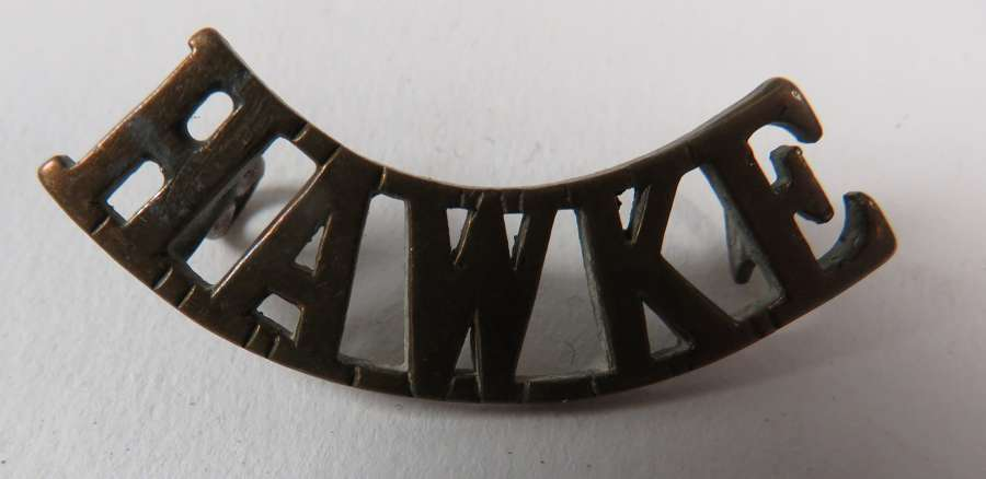 WW1 Hawke Royal Naval Division Brass Title