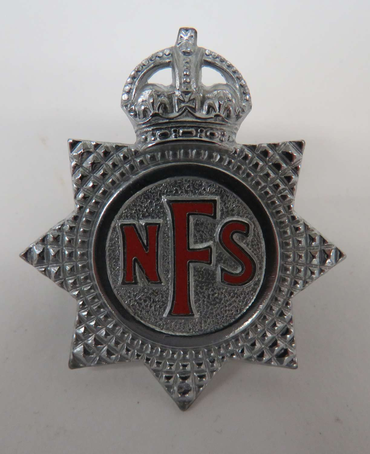 WW2 National Fire Service Cap Badge
