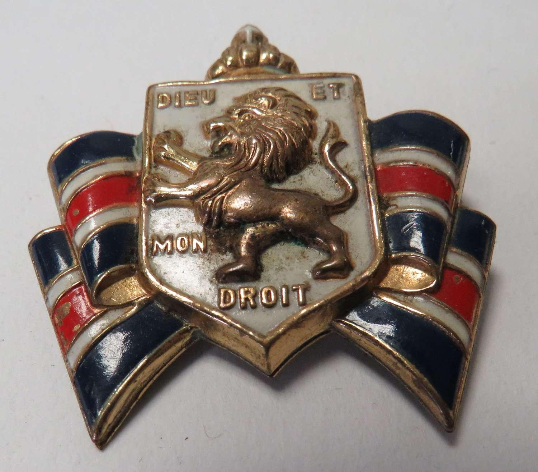 WW2 British War Relief Society Lapel Badge