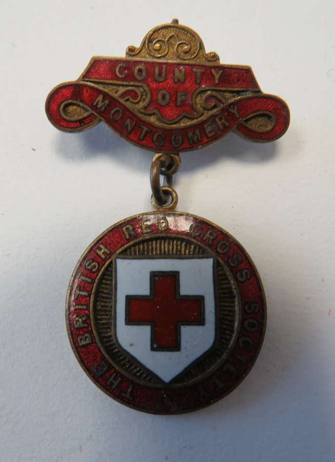 British Red Cross County of Montgomery Breast Badge