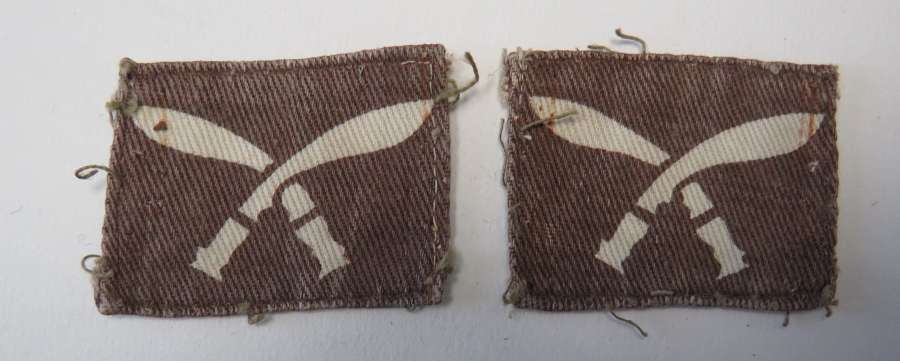 Pair of 99th Gurkha Brigade Formation Badges