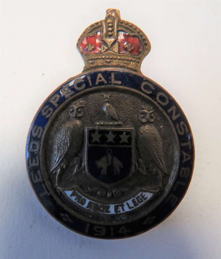 1914 Leeds Special Constable Lapel Badge