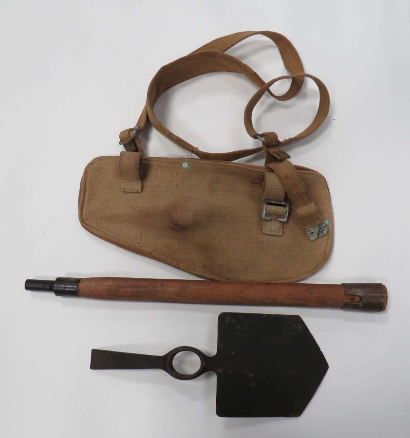 1944 Dated British Entrenching Tool and Carrier