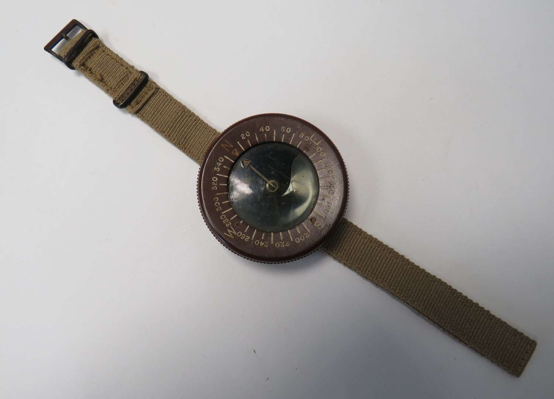 Scarce WW2 American Airborne Wrist Compass