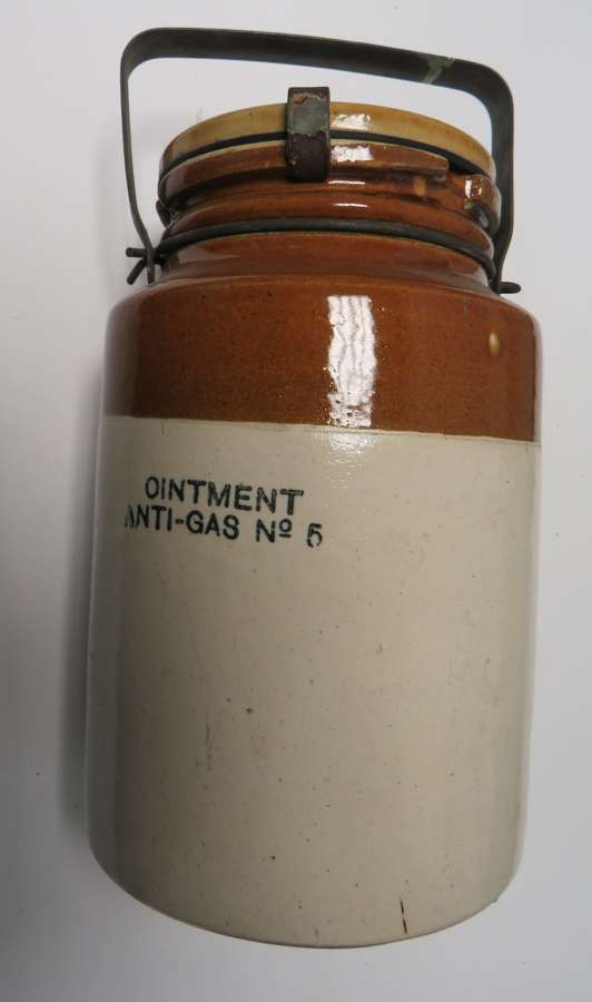 WW2 Anti Gas Ointment Stoneware Jar