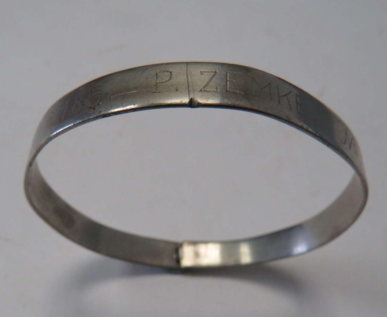 WW1 / WW2 Prisoner of War I.D Bracelet