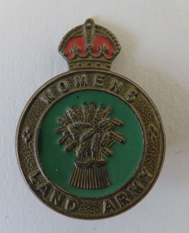 Womens Land Army Cap Badge