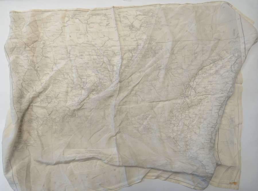 WW2 Dated R.A.F Silk Escape Map Covering Canton China