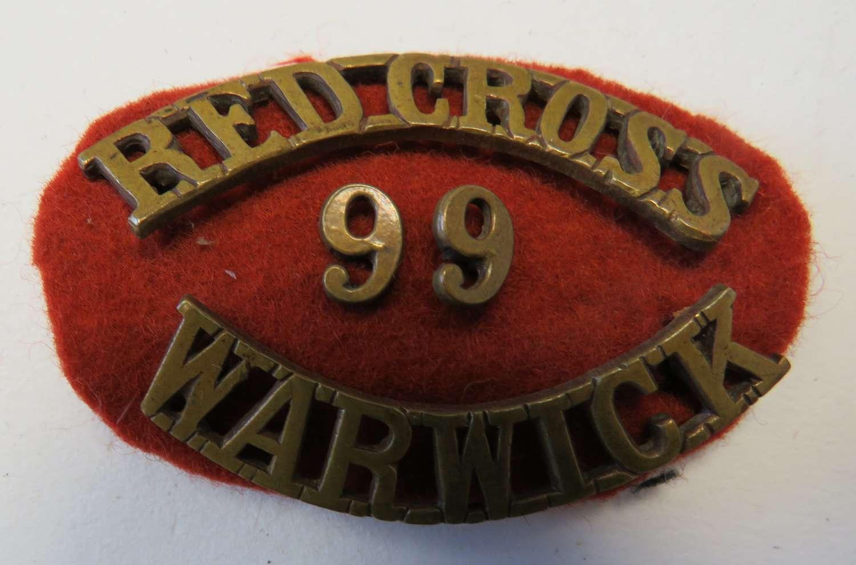 Warwick Red Cross Shoulder Title