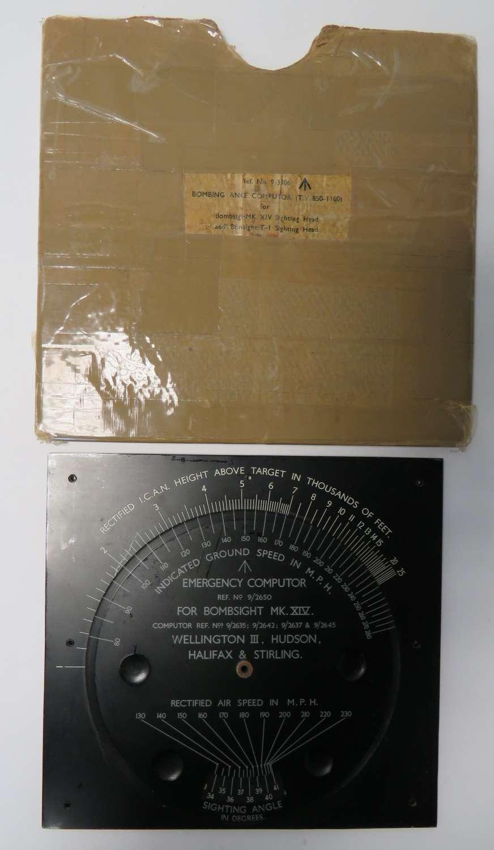 WW2  Bomb sight Emergency Computer