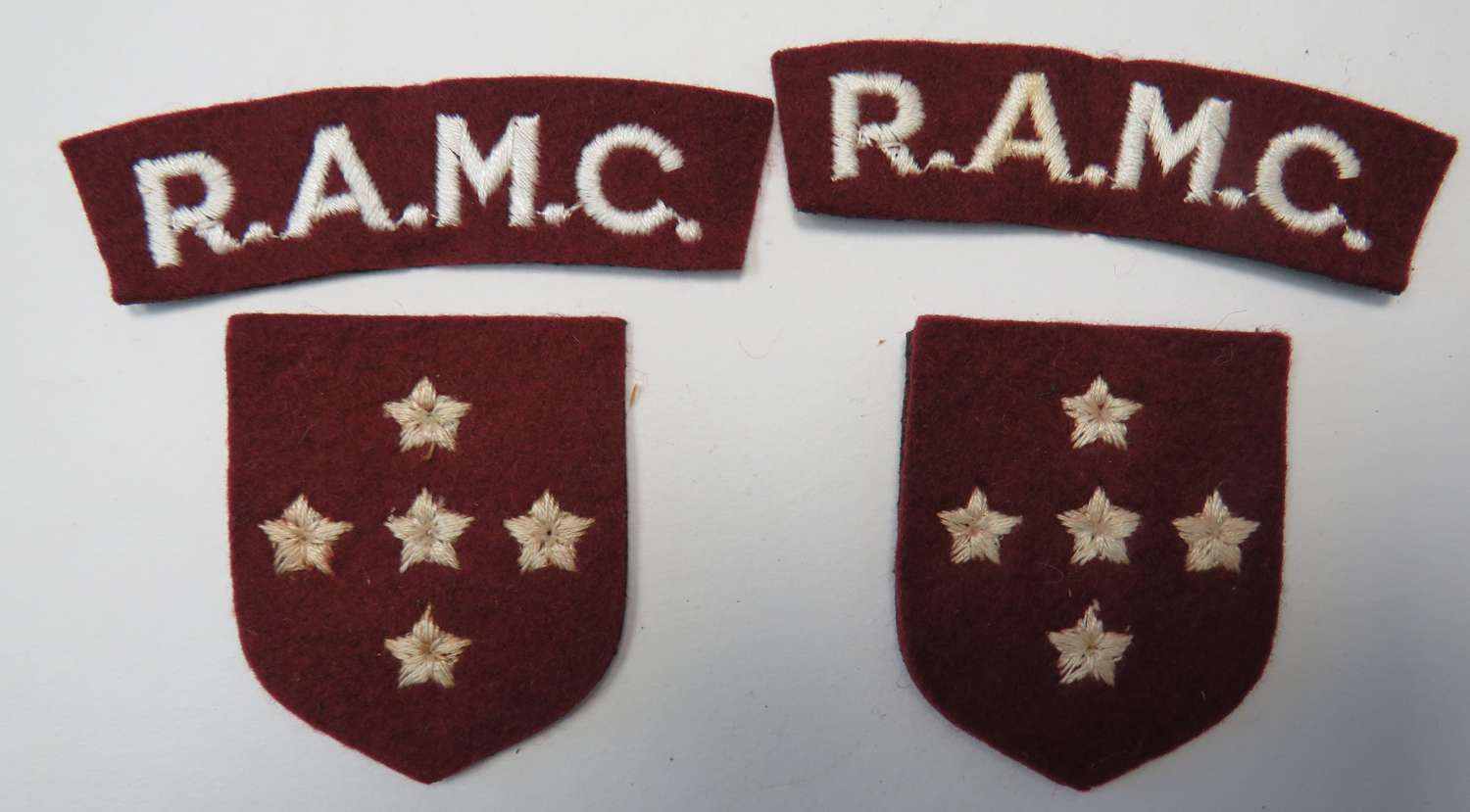 Set of R.A.M.C Southern Command Badges