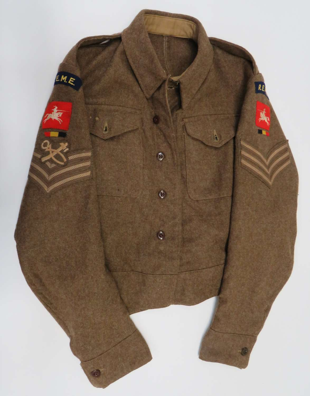 WW2 R.E.M.E 8th Corps 1940 Pattern Battledress Jacket