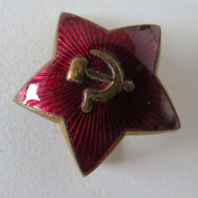Russian Star Cap Badge