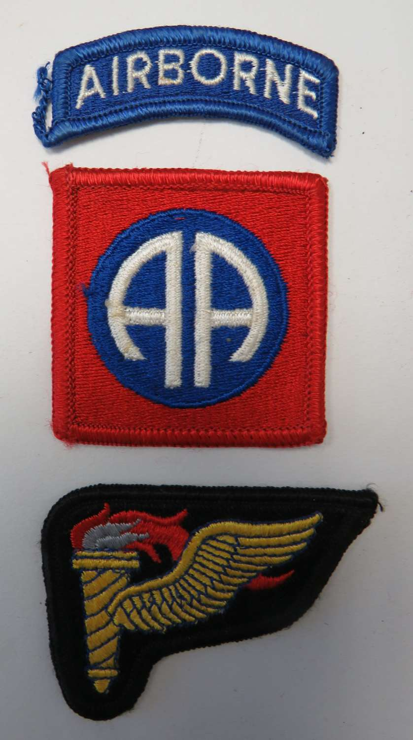 82nd Airborne Badge and Pathfinder Cuff Badge