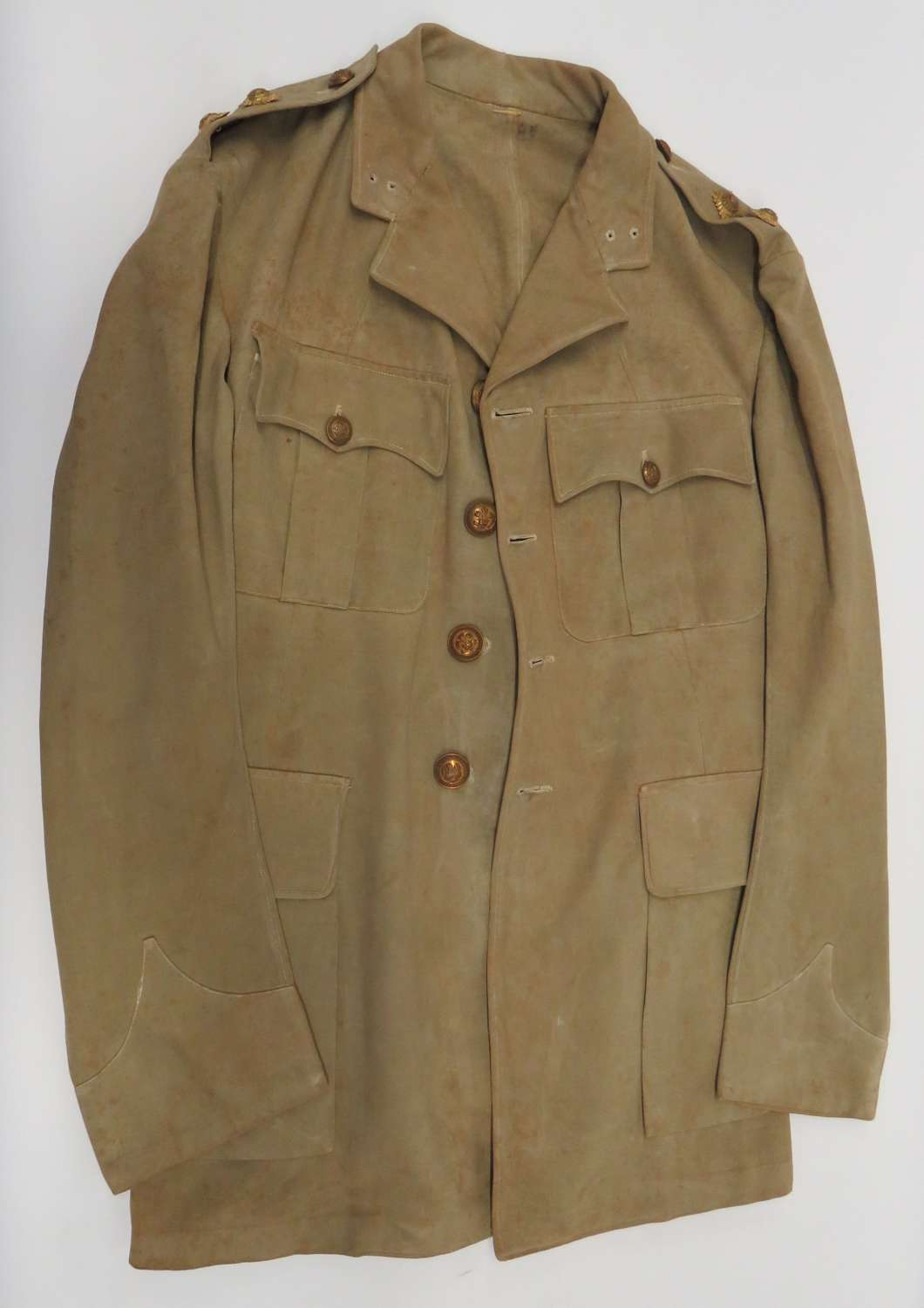 WW1 The Leinster Regiment Officers Tropical Tunic