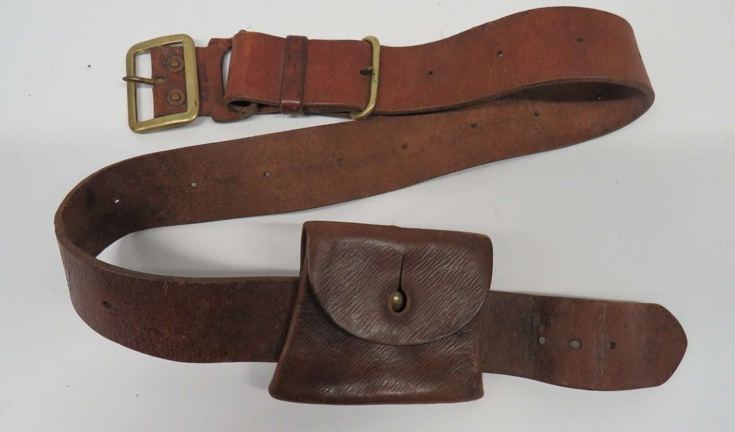 WW2 South African Made Belt and Pouch