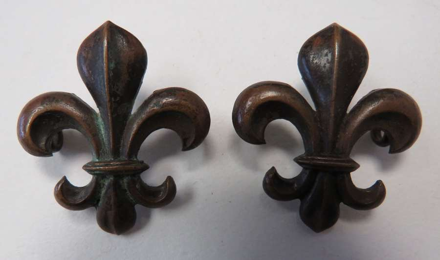 Pair of Manchester Regiment Officer Collar Badges