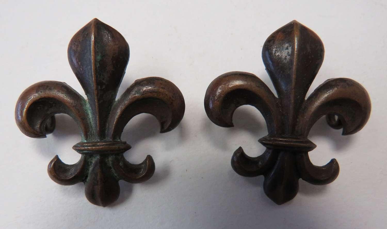 Pair of Manchester Regiment Officer Collar Badges