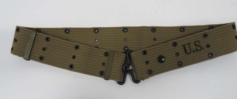 WW2 American Pistol Webbing Belt