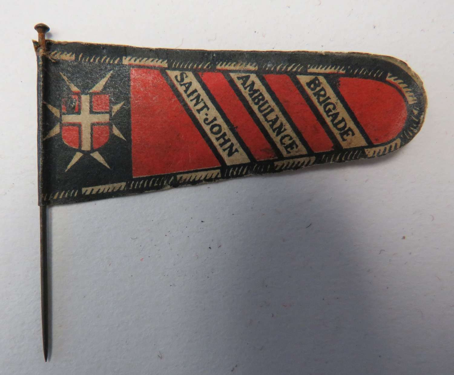 WW1 St Johns Ambulance Brigade Pin Day Badge