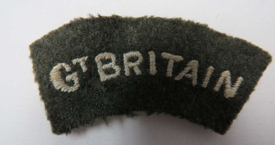 WW2 Gt Britain Shoulder Title