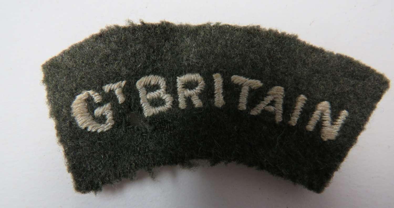 WW2 Gt Britain Shoulder Title