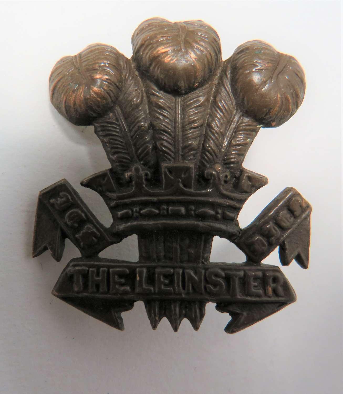 WW1 The Leinster Regiment Cap Badge