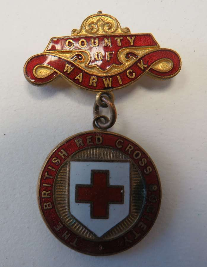 British Red Cross County of Warwick Breast Badge